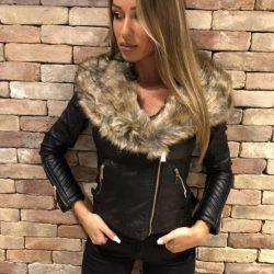 евтино черно пухено яке, което е евтино